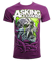 Asking Alexandria Midnight Slime T Shirt (Purple)