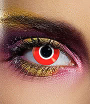Edit Daily Assassin Coloured Contact Lenses (Red)