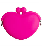 Blue Banana Heart Clasp Purse (Pink)