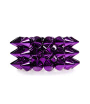Blue Banana 3 Row Small Spike Bracelet (Purple)