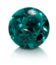 Glitter Ball 1.2mm  zircon blue