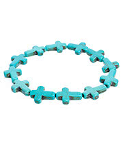 Blue Banana Expanding Cross Bracelet (Blue)