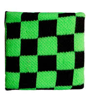 Blue Banana Checker Pattern Sweatband (Green)