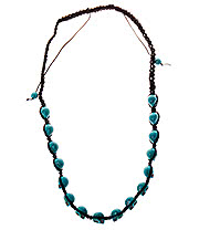 Blue Banana Skulls Necklace (Blue)