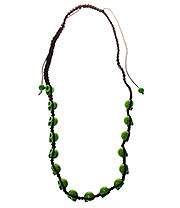Blue Banana Skulls Necklace (Green)