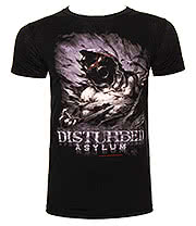 Disturbed Asylum T Shirt (Black)