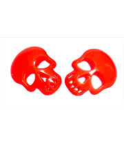 Blue Banana Skull Earrings (Orange)