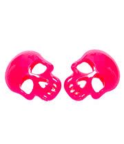 Blue Banana Skull Earrings (Pink)