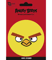 Yellow Bird Angry Bird Vinyl Sticker