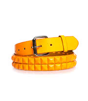 Blue Banana 2 Rows of Studs Belt (UV Orange)