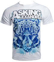 Asking Alexandria Bear Skull T Shirt (White)