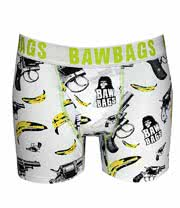 Baw Bags Guns and Bananas Boxers (White)