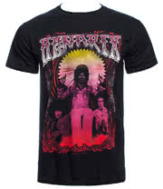 Jimi Hendrix Flower T Shirt (Black)