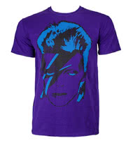 David Bowie Star Man T Shirt (Purple)