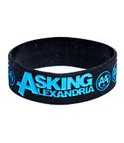 Rokk Bands Asking Alexandria Colours Wristband (Black)