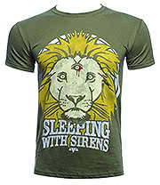 Sleeping With Sirens Lion Crest T Shirt (Green)