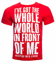 Sleeping With Sirens World T Shirt (Red)