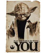 Star Wars Yoda May The Force Poster