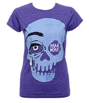 Paramore Cry A Little Skinny T Shirt (Purple)