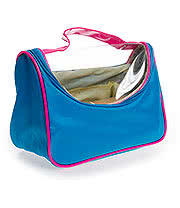 Blue Banana Wash Bag (Blue/Pink)