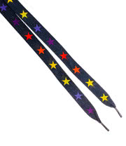 Blue Banana Stars Laces (Black/Multi-Coloured)