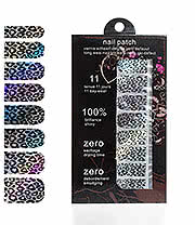 Blue Banana Nail Wrap (Black/White Leopard)