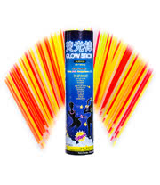 Blue Banana Box of 100 Glow Stick Bracelets (Multi-Coloured)