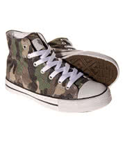 Bleeding Heart Canvas High Tops (Camouflage)