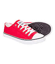 Bleeding Heart Canvas Shoes (Red)