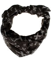 Blue Banana Crosses Scarf (Black)