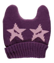 Blue Banana Ears Hat With Stars (Purple)