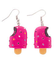 Blue Banana Lolly Earrings (Pink)