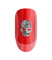 Blue Banana Pack of Two Crystal Skull 3D Nail Art