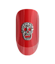 Blue Banana Pack of Two Glitter Skull 3D Nail Art