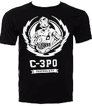 Star Wars C-3PO Lightning Crest T Shirt (Black)