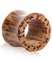 Blue Banana Coconut Wood Flesh Tunnel 10 - 14mm