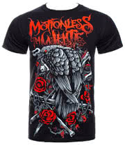 Motionless In White Evil Crow T Shirt (Black)