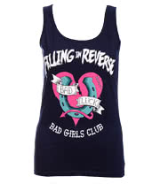 Falling In Reverse Bad Girls Vest (Blue)