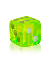 Novelty Dice 5mm Add On (UV Green)