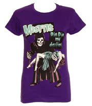 Misfits Die Die My Darling Skinny Fit T Shirt (Purple)