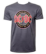 AC/DC Aug Est 1973 T Shirt (Charcoal)