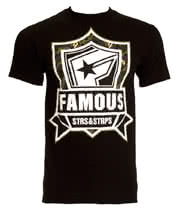 Famous Stars & Straps Mission Camouflage T Shirt (Black)