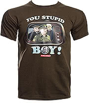 Dad's Army You Stupid Boy T Shirt (Brown)