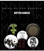 Bring Me The Horizon Button Badges