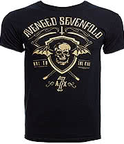 Avenged Sevenfold Shield And Sickle T Shirt (Black)