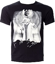 Star Wars DJ Yoda Glitter Ball T Shirt (Black)