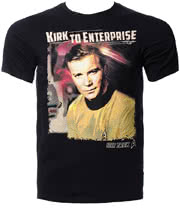 Star Trek Captain Kirk T Shirt (Black)