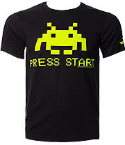 Space Invaders Press Start T Shirt (Black)