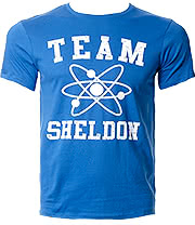 The Big Bang Theory Team Sheldon T Shirt (Blue)