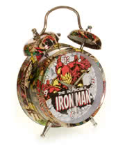 "Marvel Comics 4"" Iron Man Alarm Clock"
